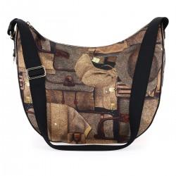 Borbonese Luna Bag Medium stampa Archivio